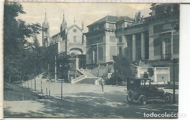 MADRID MUSEO DEL PRADO ESCRITA (Postales - España - Comunidad de Madrid Antigua (hasta 1939))