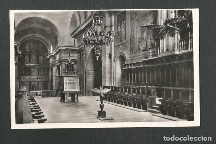 POSTAL SIN CIRCULAR MONASTERIO DE EL ESCORIAL (MADRID) EGLESIA EL CORO EDITA HELIOTIPIA ARTISTICA (Postales - España - Madrid Moderna (desde 1940))