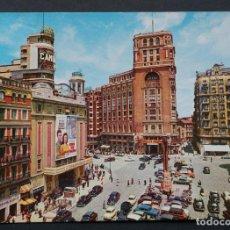 Postales: MADRID, PLAZA DE CALLAO, POSTAL CIRCULADA CON SELLO DEL AÑO 1964. Lote 270363983
