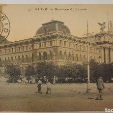 Postales: POSTAL CIRCULADA MADRID MINISTERIO DE FOMENTO. Lote 270373998
