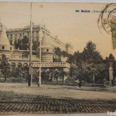 Postales: POSTAL CIRCULADA MADRID ENTRADA AL CAMPO DEL MORO. Lote 270374748
