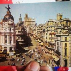 Postales: POSTAL MADRID EDIFICIO FÉNIX Y AVENIDA JOSÉ ANTONIO N 67 DOMÍNGUEZ 1963 ESCRITA. Lote 270568318