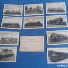 Postales: 10 TARJETAS POSTALES - LOCOMOTORAS PRIMERA SERIE HAUSER Y MENET - MADRID. Lote 270665648