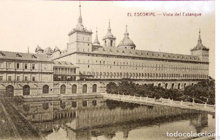 EL ESCORIAL. VISTA DEL ESTANQUE. HIJO DE NICOLÁS SERRANO. NUEVA. BLANCO/NEGRO (Postales - España - Madrid Moderna (desde 1940))