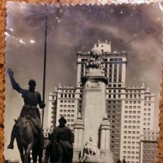 Postales: POSTAL MONUMENTO CERVANTES Y EDIFICIO ESPAÑA. Lote 271389458