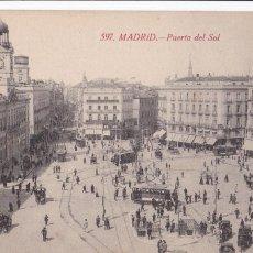 Postales: MADRID PUERTA DEL SOL. ED. CASTAÑEIRA ALVAREZ Y LEVENFELD Nº 597. SIN CIRCULAR. Lote 271659118