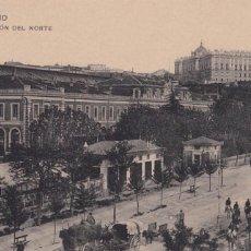 Postales: MADRID ESTACION DEL NORTE. ED. HAUSER Y MENET Nº 8. SIN CIRCULAR. Lote 271659548