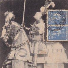 Postales: MADRID REAL ARMERIA ARNES SIGLO XV. ED. HAUSER Y MENET SERIE 8 Nº 3. REVERSO SIN DIVIDIR. CIRCULADA. Lote 271664113