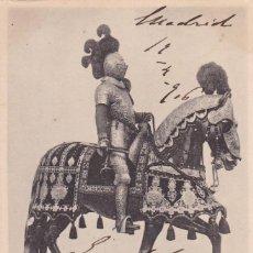 Postales: MADRID REAL ARMERIA ARNES ECUESTRE FELIPE III. ED. HAUSER Y MENET SERIE 2 Nº 5. REVERSO SIN DIVIDIR. Lote 271665113