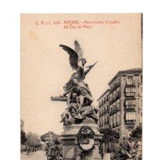 Cartes Postales: MADRID.- MONUMENTO AL PUEBLO DE DOS DE MAYO.. Lote 272739353