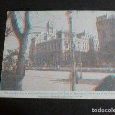Postales: MADRID PALACIO DE COMUNICACIONES POSTAL TRES DIMENSIONES 3D. Lote 275070058