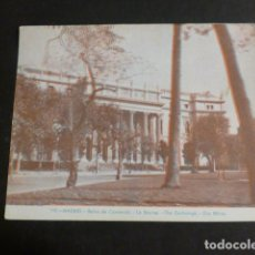 Postales: MADRID BOLSA DE COMERCIO POSTAL TRES DIMENSIONES 3D. Lote 275070123