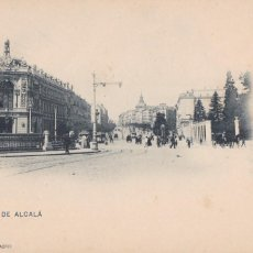 Postais: MADRID CALLE ALCALÁ. ED. HAUSER Y MENET Nº 25. REVERSO SIN DIVIDIR. Lote 275132503
