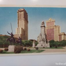 Postales: POSTAL MADRID MONUMENTO CERVANTES EDIFICIO ESPAÑA TORRE 9,5 X 14 SIN ESCRIBIR SIN CIRCULAR RARA. Lote 275277193