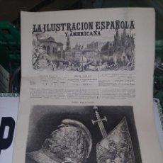 Postales: LA ILUSTRACION ESPAÑOLA Y AMERICANA ARMERIA REAL DE MADRID. Lote 275662583