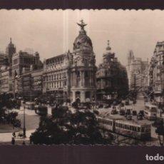 Postales: POSTAL DE MADRID CALLE ALCALA Y AVENIDA JOSE ANTONIO Nº 1 EDITO GARCIA GARRABELLA ESCRITA AÑO 1949. Lote 275731758