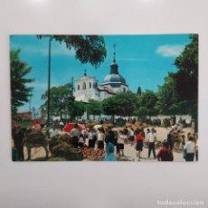 Postales: POSTAL MADRID CAPILLA DE SAN ISIDRO Y FERIA. ESCRITA SIN CIRCULAR 1966 (BOTIJOS) ANIMADA. Lote 276060453