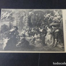 Postales: MADRID MUSEO DEL PRADO EL JARDIN DEL AMOR DE RUBENS. Lote 276438658