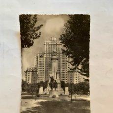 Postales: POSTAL. MADRID. MONUMENTO A CERVANTES. HELIOTIPIA ARTÍSTICA ESPAÑOLA.. Lote 276643843