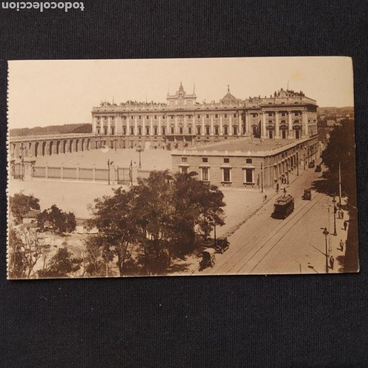 MADRID - PALACIO NACIONAL: PLAZA DE LA ARMERÍA. HELIO GRÁFICA ESPAÑOLA (Postales - España - Comunidad de Madrid Antigua (hasta 1939))