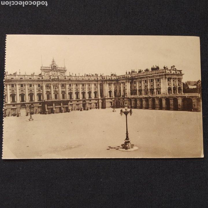MADRID - PALACIO NACIONAL: PLAZA DE ARMAS. HELIO GRÁFICA ESPAÑOLA (Postales - España - Comunidad de Madrid Antigua (hasta 1939))