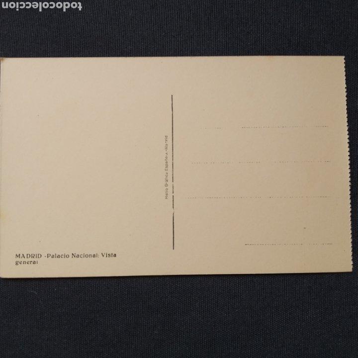 Postales: Madrid - Palacio Nacional: Vista general. Helio Gráfica Española - Foto 2 - 276709118