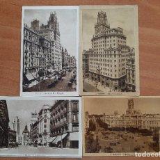 Postales: CUATRO POSTALES ANTIGUAS DE MADRID. Lote 276965383