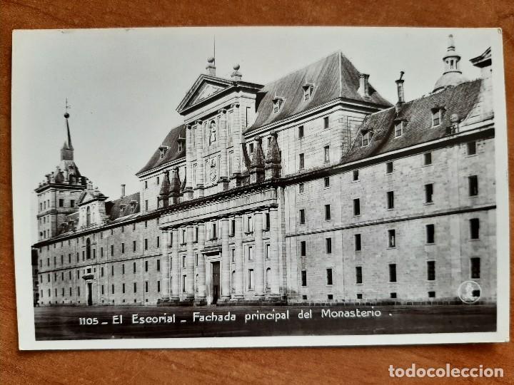 POSTAL DEL EL ESCORIAL -FACHADA PRINCIPAL DEL MONASTERIO (Postales - España - Madrid Moderna (desde 1940))