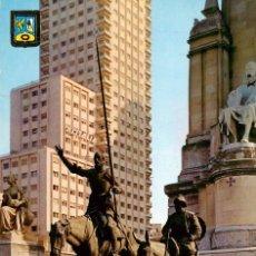 Postales: EM1113 MADRID MONUMENTO A CERVENTES 1963 ESCUDO DE ORO Nº72. Lote 277412598