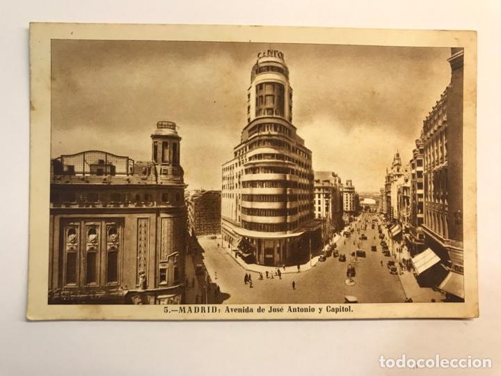 MADRID POSTAL ANIMADA NO.5, AVENIDA DE JOSÉ ANTONIO Y CAPITOL. EDI, H.A.ESPAÑOLA (H.1947?) (Postales - España - Madrid Moderna (desde 1940))