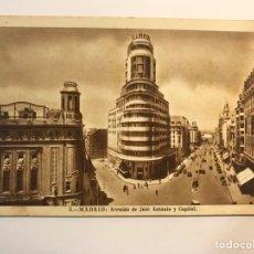 Postales: MADRID POSTAL ANIMADA NO.5, AVENIDA DE JOSÉ ANTONIO Y CAPITOL. EDI, H.A.ESPAÑOLA (H.1947?). Lote 277416223