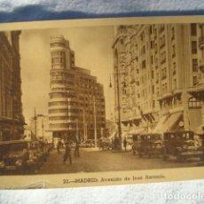 Postales: POSTAL. AVENIDA DE JOSÉ ANTONIO. MADRID.. Lote 277648558
