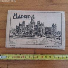 Postales: ÁLBUM DE 10 POSTALES VISTAS DE MADRID SERIE 3. FALTAN 2.. Lote 277662648