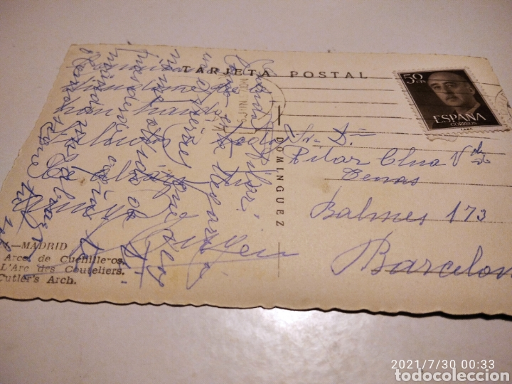 Postales: Postal antigua Madrid arco de Cuchilleros ca18c - Foto 2 - 278298933