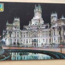 Postales: POSTAL MADRID PALACIO DE COMUNICACIONES. VISTA NOCTURNA. Lote 278353573
