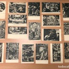 Postales: LOTE 18 TARJETA POSTAL ANTIGUAS MADRID EL ESCORIAL COLECCIÓN NO NUMERADA FOTOTIPIA THOMAS BARELONA. Lote 278455258