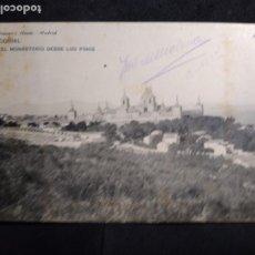 Postales: POSTAL AÑO 1909 ? * EL ESCORIAL , EL MONASTERIO DESDE LOS PINOS *. Lote 278705528