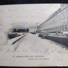 Postales: POSTAL AÑO 1905 * EL ESCORIAL , JARDÍN DE LOS FRAILES *. Lote 278705723