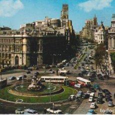Postales: TARJETA POSTAL. 76 MADRID LA CIBELES Y CALLÉ DE ALCALÁ. DOMÍNGUEZ.. Lote 284741183