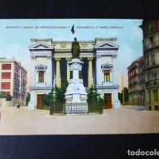 Postales: MADRID MUSEO DE REPRODUCCIONES Y MONUMENTO A MARIA CRISTINA. Lote 284802143