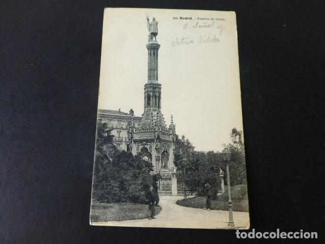 MADRID ESTATUA DE COLON (Postales - España - Comunidad de Madrid Antigua (hasta 1939))