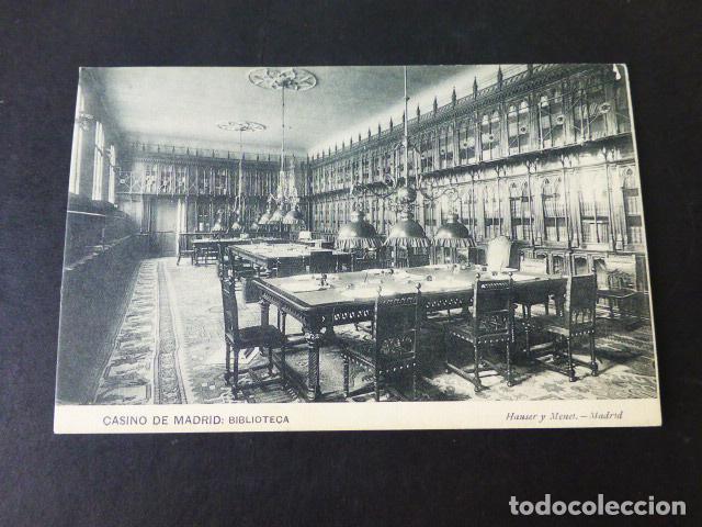 MADRID CASINO DE MADRID BIBLIOTECA (Postales - España - Comunidad de Madrid Antigua (hasta 1939))