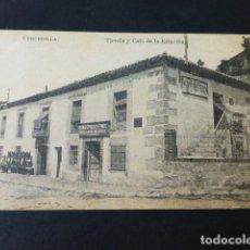 Postales: CERCEDILLA MADRID TIENDA Y CAFE DE LA ESTACION. Lote 285350663