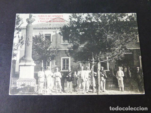 ALCALA DE HENARES MADRID PLAZA DEL EMPECINADO Y CUARTEL DE SEMENTALES (Postales - España - Comunidad de Madrid Antigua (hasta 1939))