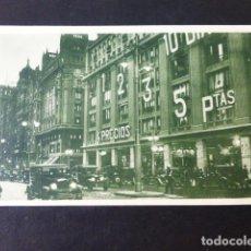 Cartoline: MADRID DE NOCHE AVENIDA DE PI Y MARGALL GRAN VIA. Lote 285484163