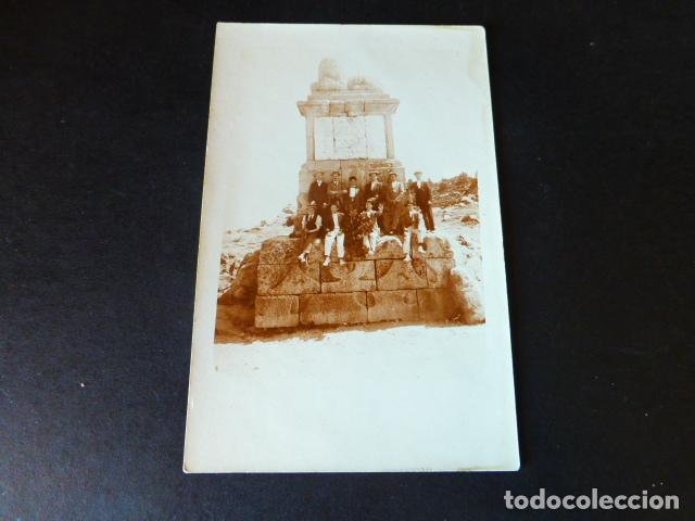 ALTO DEL LEON PUERTO DE GUADARRAMA MADRID GRUPO HACIA 1910 POSTAL FOTOGRAFICA (Postales - España - Comunidad de Madrid Antigua (hasta 1939))