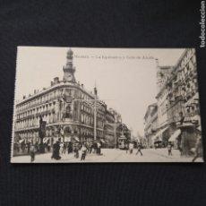 Postales: FOTOTIPIA J. ROIG - MADRID. LA EQUITATIVA Y CALLE DE ALCALÁ. Lote 286467293