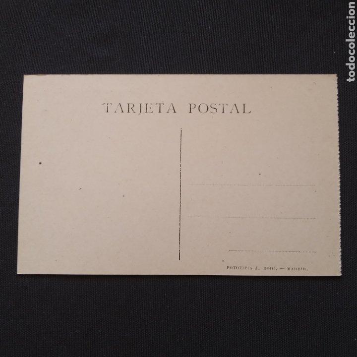 Postales: Fototipia J. Roig - Madrid. Banco de España, coche con publicidad PRENSA ESPAÑOLA 3 - Foto 2 - 286496058