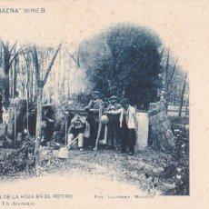 Cartoline: MADRID, CAIDA HOJA EN EL RETIRO. COLECCION BAENA, FOTO LAURENT SERIE B Nº 4. VER REVERSO SIN DIVIDIR. Lote 286712648