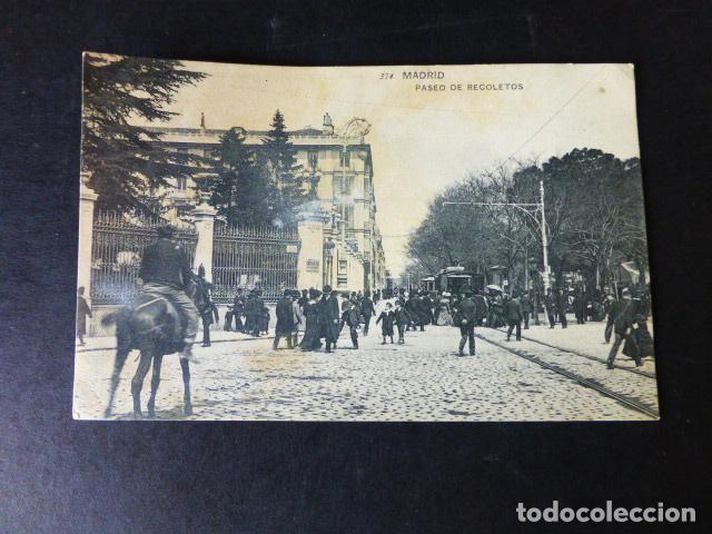 MADRID PASEO DE RECOLETOS (Postales - España - Comunidad de Madrid Antigua (hasta 1939))